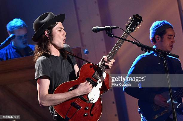 Singers James Bay performs onstage during the VH1 Big Music in 2015 You Oughta Know Concert at The Armory Foundation on November 12 2015 in New York...