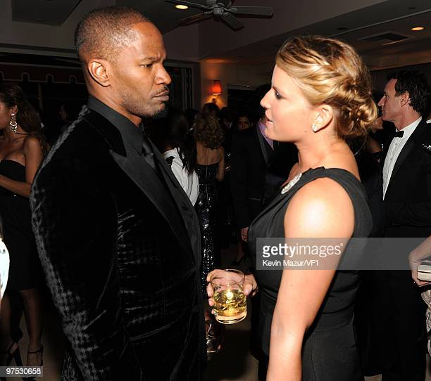 Singers Jamie Foxx and Jessica Simpson attend the 2010 Vanity Fair Oscar Party hosted by Graydon Carter at the Sunset Tower Hotel on March 7, 2010 in...