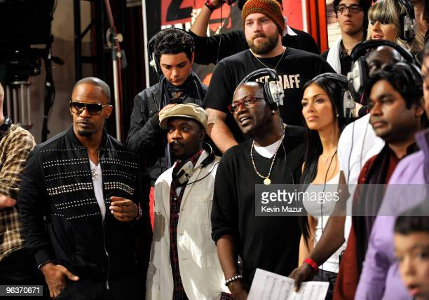 HOLLYWOOD FEBRUARY 01 Singers Jamie Foxx Randy Jackson Zac Brown Nicole Scherzinger AR Rahman and others perform at the 'We Are The World 25 Years...