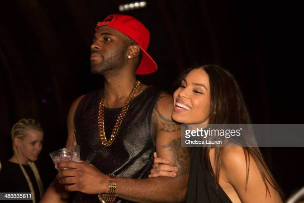 Singers Jason Derulo and Jordin Sparks attend the listening party for Jason Derulo's new album 'Talk Dirty' at 1OAK on April 7 2014 in West Hollywood...