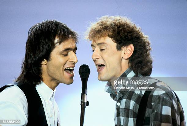 Singers JeanJacques Goldman and Michael Jones on Show Sardou