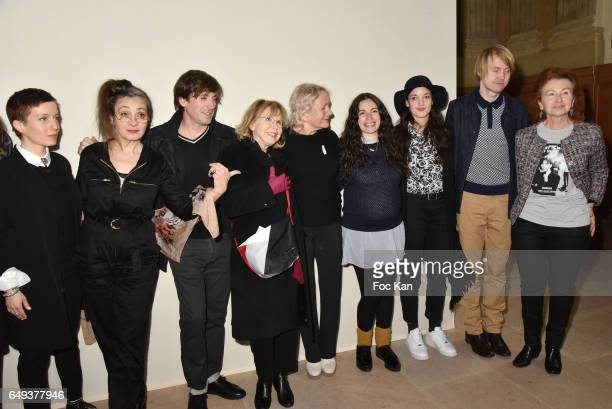 Singers Jeanne Added Catherine Ringer from the Rita Mitsouko band Thomas Dutronc Bulle Ogier Agnes B Jain Peter von Poehl and guests attend the Agnes...