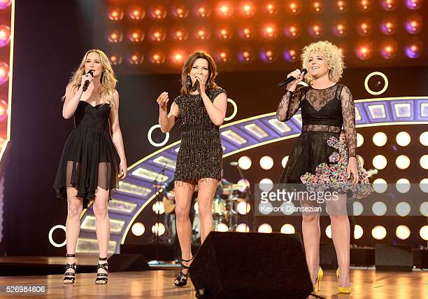 Singers Jennifer Nettles Martina McBride and Cam perform onstage during the 2016 American Country Countdown Awards at The Forum on May 1 2016 in...