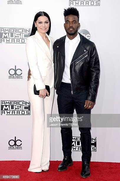 Singers Jessie J and Luke James attend the 2014 American Music Awards at Nokia Theatre LA Live on November 23 2014 in Los Angeles California