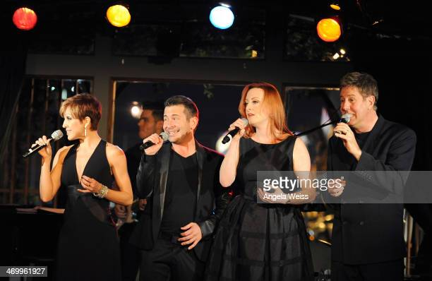 Singers Jill Marie Burke Brandon Alameda Laura Dickinson and Jim Graft attend the SAG Foundation's launch of the Capital Campaign for Dales...