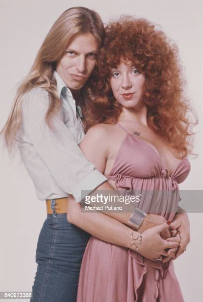 Singers Jim 'Dandy' Mangrum and Ruby Starr of American southern rock group Black Oak Arkansas August 1976