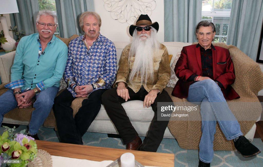 Singers Joe Bonsall, Duane Allen, William Lee Golden and Richard Sterban of The Oak Ridge Boys visit Hallmark's 'Home & Family' at Universal Studios Hollywood on February 14, 2018 in Universal City, California.