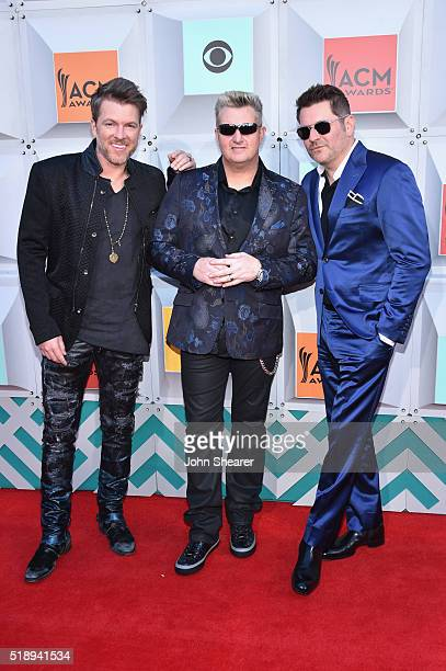 Singers Joe Don Rooney Gary LeVox and Jay DeMarcus of Rascal Flatts attend the 51st Academy of Country Music Awards at MGM Grand Garden Arena on...