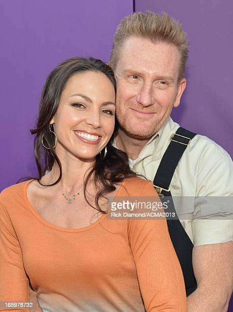 Singers Joey Feek and Rory Feek of Joey & Rory attend the 48th Annual Academy of Country Music Awards at the MGM Grand Garden Arena on April 7, 2013...