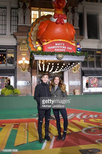 Singers Johnny Orlando and Mackenzie Ziegler perform during the 92nd Annual Macy's Thanksgiving Day Parade day two of rehearsals on November 20 2018...