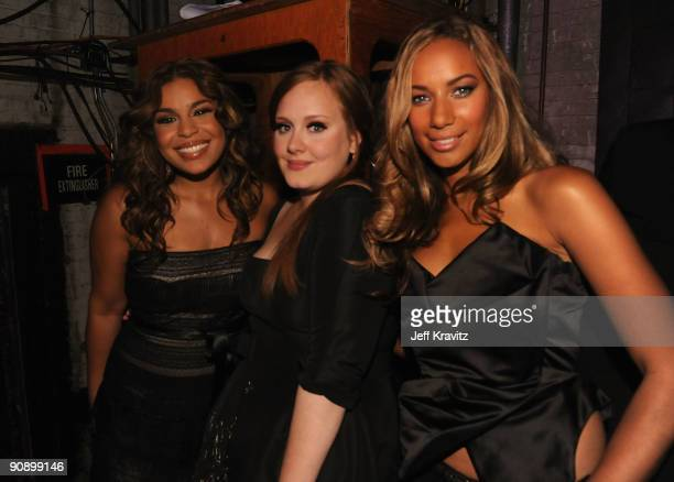 Singers Jordin Sparks Adele and Leona Lewis attend 2009 VH1 Divas at Brooklyn Academy of Music on September 17 2009 in New York City