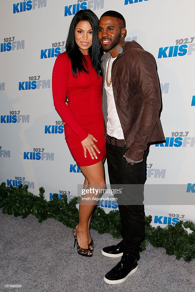 Singers Jordin Sparks (L) and Jason Derulo attend KIIS FM's 2012 Jingle Ball at Nokia Theatre L.A. Live on December 3, 2012 in Los Angeles, California.