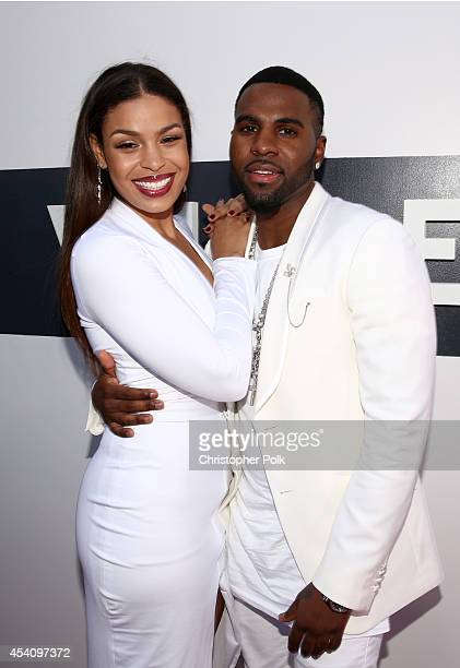 Singers Jordin Sparks and Jason Derulo attend the 2014 MTV Video Music Awards at The Forum on August 24 2014 in Inglewood California