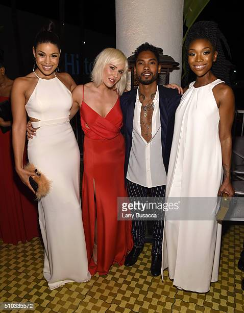 Singers Jordin Sparks Natasha Bedingfield Miguel and Brandy attend the 2016 PreGRAMMY Gala and Salute to Industry Icons honoring Irving Azoff at The...