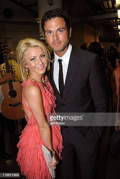 Singers Julianne Hough and Chuck Wicks attend the 2009 CMT Music Awards at the Sommet Center on June 16 2009 in Nashville Tennessee