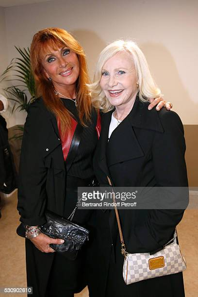 Singers Julie Pietri and Michele Torr attend Michel Polnareff performs at AccorHotels Arena Bercy Day 4 on May 11 2016 in Paris