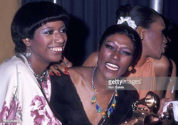 Singers June Pointer and Bonnie Pointer of The Pointer Sisters attend the 18th Annual Grammy Awards on February 28 1976 at the Hollywood Palladium in...