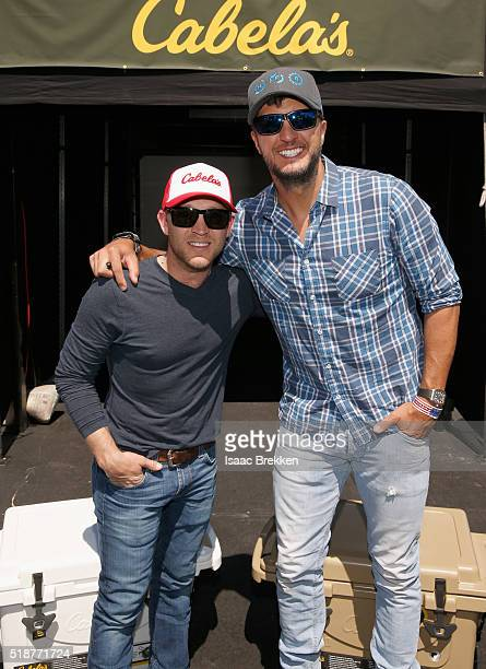 Singers Justin Moore and Luke Bryan attend Cabela's Academy of Country Music Celebrity Archery Tournament during the 4th ACM Party for a Cause...