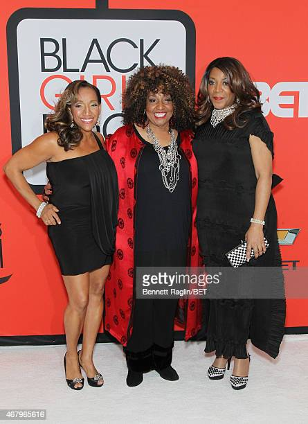 Singers Kathy Sledge Cheryl Lynn and Alicia Myers attends the BET's 'Black Girls Rock' Red Carpet sponsored by Chevrolet at NJPAC – Prudential Hall...