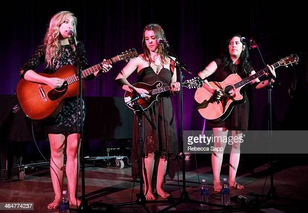 Singers Katy Bishop Alaina Stacey and Kristen Castro of Maybe April perform at 'A Song Is Born' the 16th Annual GRAMMY Foundation Legacy Concert held...