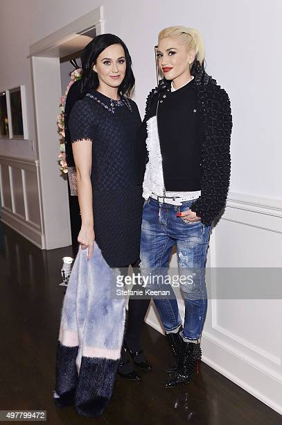 Singers Katy Perry and Gwen Stefani attend Barneys New York Jennifer Aniston and Tobey Maguire host a private dinner to celebrate The Barneys New...