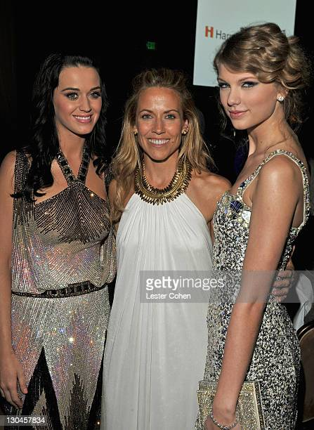 Singers Katy Perry Sheryl Crow and Taylor Swift during the 52nd Annual GRAMMY Awards Salute To Icons Honoring Doug Morris held at The Beverly Hilton...