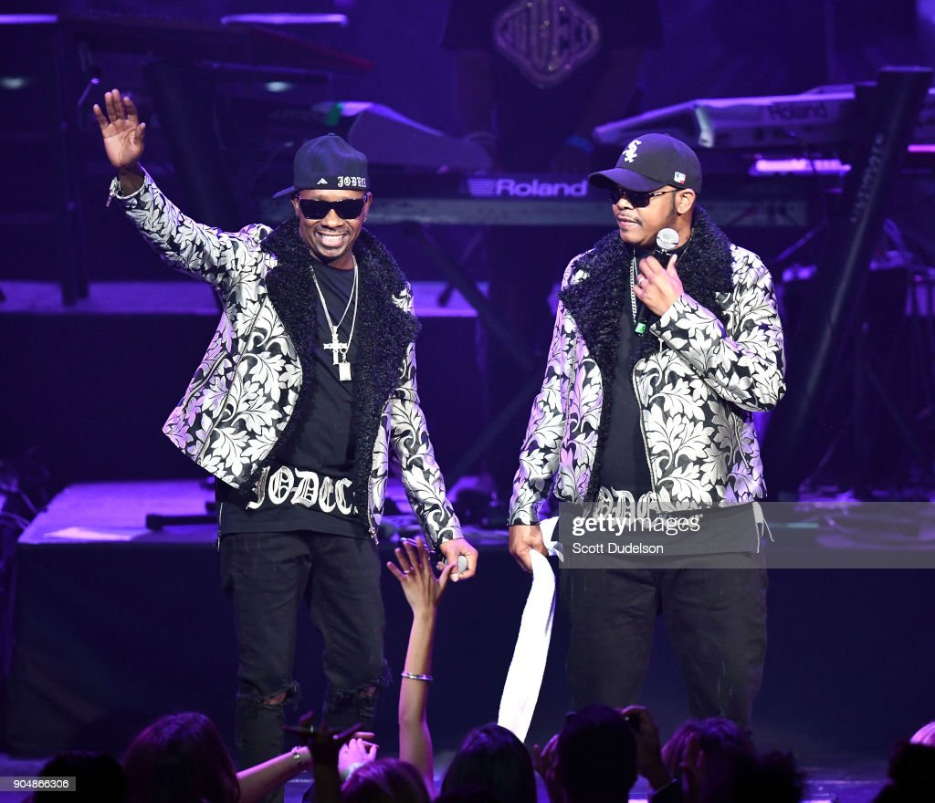 Singers K-Ci and JoJo of the R&B group Jodeci perform onstage at