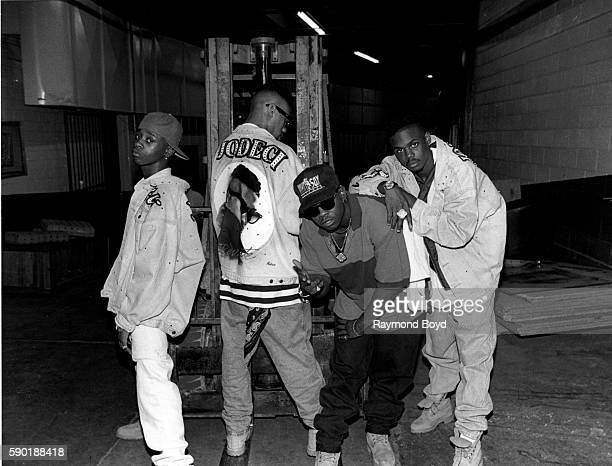 Singers KCi Devante JoJo and Mr Dalvin from Jodeci poses for photos backstage at The Arena in St Louis Missouri in January 1992