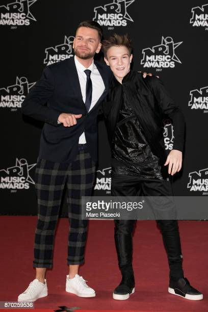 Singers Keen'V and LenniKim attend the 19th 'NRJ Music Awards' ceremony on November 4 2017 in Cannes France