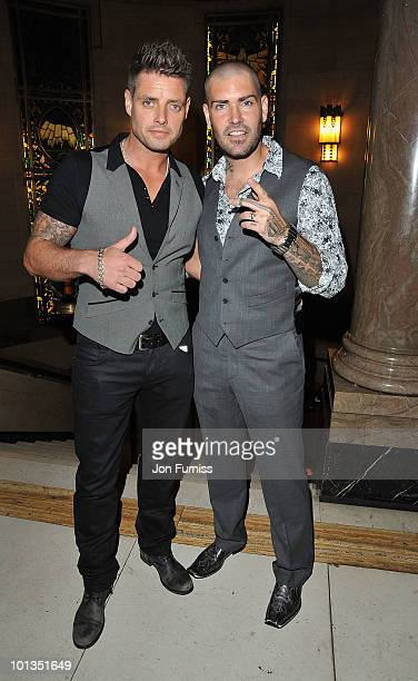 Singers Keith Duffy and Shane Lynch attend the Quintessentially Awards at Freemasons Hall on June 1 2010 in London England