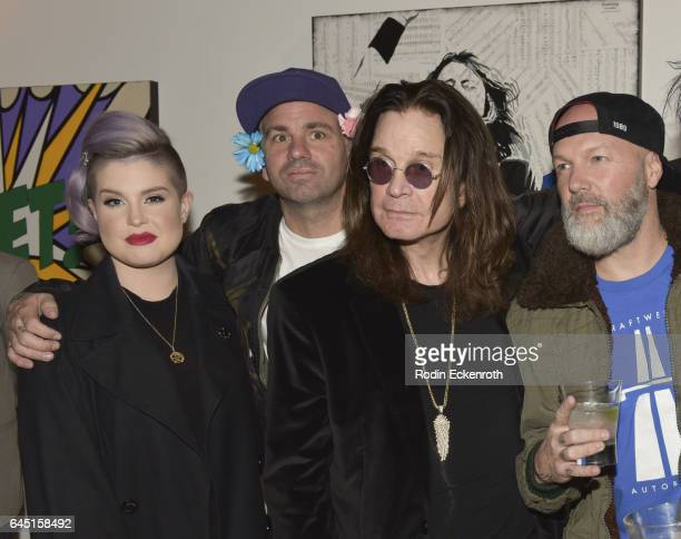 Singers Kelly Osbourne Danny Minnick Ozzie Obourne and Fred Durst attend Billy Morrison and Plastic Jesus's 'Anesthesia The Art Of Oblivion' opening...