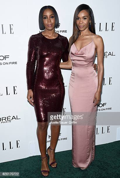 Singers Kelly Rowland and Michelle Williams arrive at the 23rd Annual ELLE Women In Hollywood Awards at Four Seasons Hotel Los Angeles at Beverly...
