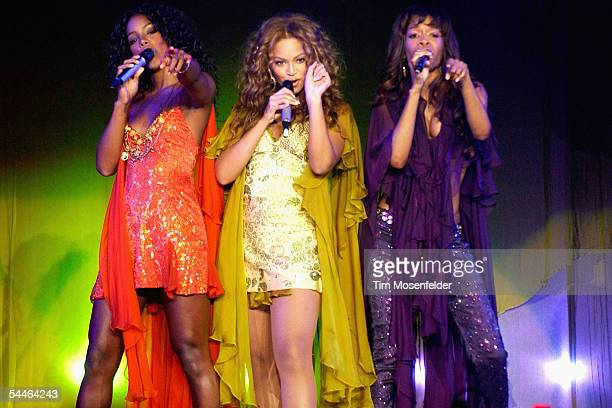 Singers Kelly Rowland Beyonce Knowles and Michelle Williams of Destiny's Child perform part of the bands Destiny Fulfilled And Lovin' it Tour at the...