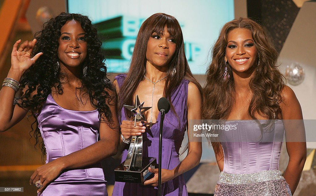 Singers Kelly Rowland, Michelle Williams and Beyonce Knowles of Destiny's Child accept the award for Best Group onstage at the BET Awards 05 at the Kodak Theatre on June 28, 2005 in Hollywood, California.