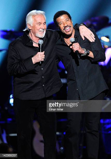 Singers Kenny Rogers and Lionel Richie perform onstage during Lionel Richie and Friends in Concert presented by ACM held at the MGM Grand Garden...