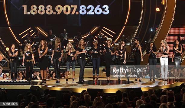 Singers Keyshia Cole Fergie Leona Lewis Ciara Carrie Underwood Mariah Carey Mary J Blige Beyonce Miley Cyrus Rihanna Ashanti Natasha Bedingfield and...