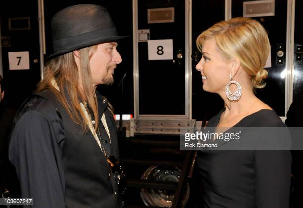 Singers Kid Rock and Faith Hill backstage at the 2009 MusiCares Person of the Year Tribute to Neil Diamond at the Los Angeles Convention Center on...