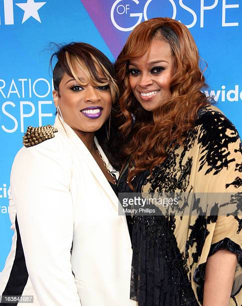 Singers Kierra Sheard and Karen Clark Sheard attend the BET Celebration of Gospel 2013 at Orpheum Theatre on March 16 2013 in Los Angeles California