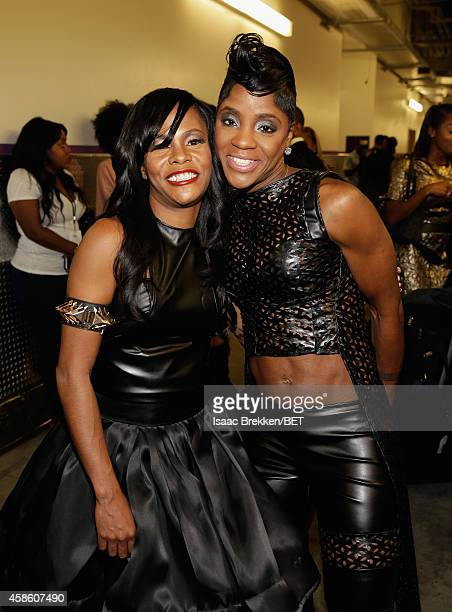 Singers Kima and Pam of Total attend the 2014 Soul Train Music Awards at the Orleans Arena on November 7, 2014 in Las Vegas, Nevada.