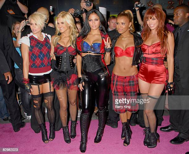 Singers Kimberly Wyatt Ashley Roberts Nicole Scherzinger Melody Thornton and Jessica Sutta of The Pussycat Dolls attend the celebration for the...