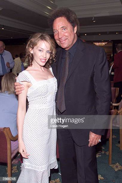Singers Kylie Minogue and Tom Jones at the Silver Clef Awards at the Intercontinental Hotel in London 6/29/2001 Photo by Dave Hogan/Mission...