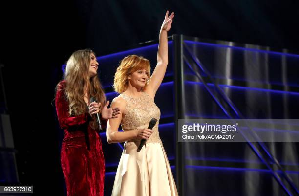 Singers Lauren Daigle and Reba McEntire perform onstage during the 52nd Academy of Country Music Awards at TMobile Arena on April 2 2017 in Las Vegas...