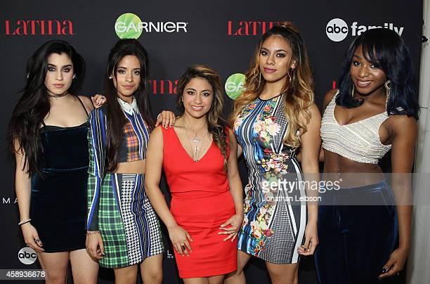 Singers Lauren Jauregui Camila Cabello Ally Brooke Hernandez Dinah Jane Hansen and Normani Hamilton of Fifth Harmony attend Latina Magazine's '30...