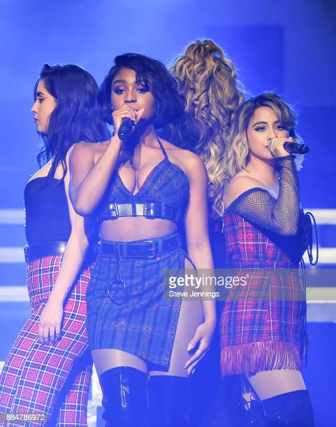 Singers Lauren Jauregui Normani Kordei Dinah Jane and Ally Brooks of Fifth Harmony perform at 997 NOW Presents POPTOPIA at SAP Center on December 2...