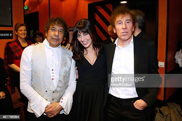 Singers Laurent Voulzy Nolwenn Leroy and Alain Souchon attend the '10th Charity Gala Against Alzheimer's Disease Two Generations sing for the third'...