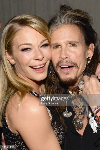 Singers LeAnn Rimes and Steven Tyler attends 2014 MusiCares Person Of The Year Honoring Carole King at Los Angeles Convention Center on January 24...