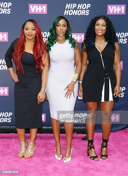 Singers Leanne 'Lelee' Lyons Tamara JohnsonGeorge and Coko from SWV attend the 2016 VH1 Hip Hop Honors All Hail The Queens at David Geffen Hall on...