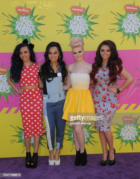 Singers LeighAnne Pinnock Jade Thirlwall Perrie Edwards and Jesy Nelson of 'Little Mix' arrive at Nickelodeon's 26th Annual Kids' Choice Awards at...