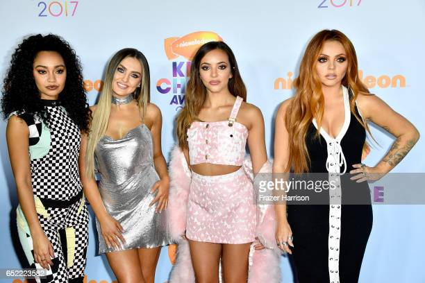 Singers LeighAnne Pinnock Perrie Edwards Jesy Nelson and Jade Thirlwall of Little Mix at Nickelodeon's 2017 Kids' Choice Awards at USC Galen Center...