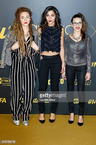 Singers LEJ attend The Melty Future Awards 2016 Ceremony at Le Grand Rex on February 16 2016 in Paris France